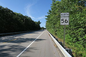 Massachusetts Route 56 - Northbound in Leicester