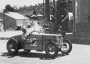 1939 Australian Grand Prix - Race winner Allan Tomlinson (MG TA) contesting the 1939 Australian Grand Prix