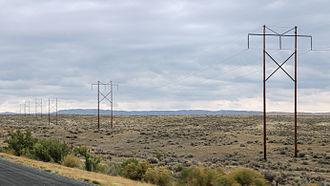 Bighorn Basin - Power lines crossing the Bighorn Basin's plains