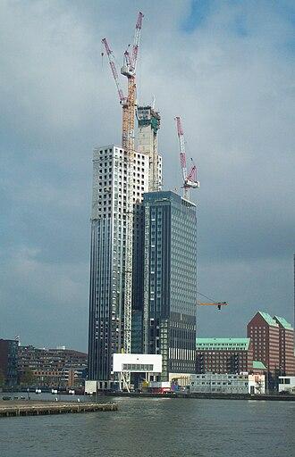 Maastoren - The Maastoren under construction in April 2009