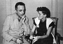 Fritz Leiber and Katherine MacLean at the 1952 World Science Fiction Convention