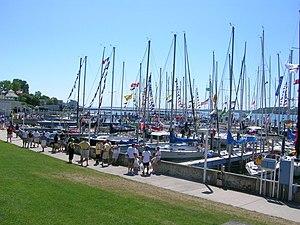 Port Huron to Mackinac Boat Race - Mackinac Island Marina after the 2006 Port Huron to Mackinac Race