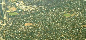 Macquarie, Australian Capital Territory - Aerial view of Macquarie, from the west.
