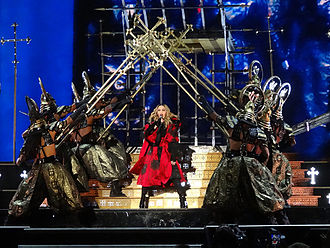 """Iconic (song) - Madonna and her dancers opening the Rebel Heart Tour (2015–16) with a performance of """"Iconic"""""""