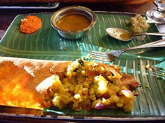 Masala dosa - Image: Madras special masala dosa