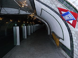 Madrid Metro - The closed Chamberí station on line 1