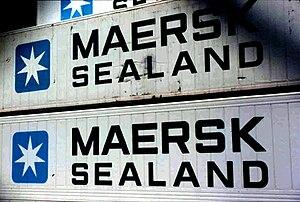 OMX Copenhagen 20 - A. P. Møller-Mærsk's Sealand 40' containers.