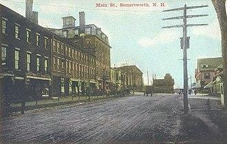 Somersworth, New Hampshire - Main Street c. 1910