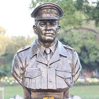 Shaitan Singh - Singh's statue at Param Yodha Sthal, National War Memorial, New Delhi