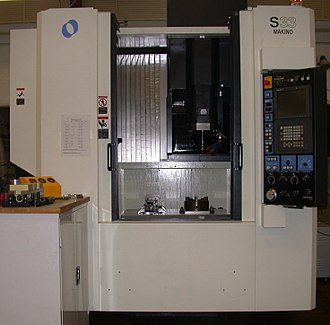 Guitar manufacturing - A CNC machining center, similar to those used by guitar manufacturers