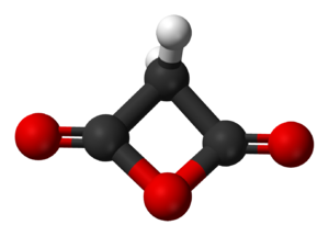Malonic anhydride - Image: Malonic anhydride 3D balls
