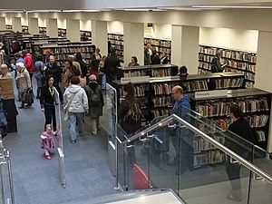 Manchester Central Library - The new Lending Library in 2014.