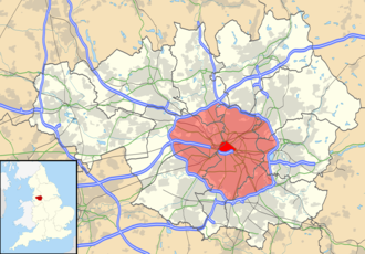 M60 motorway - The M60 orbits the urban core of Greater Manchester, highlighted in red on the map