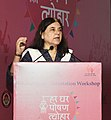 Maneka Sanjay Gandhi addressing the Orientation Workshop on Rashtriya Poshan Maah (National Nutrition Month) being celebrated in the month of September, 2018, in New Delhi.JPG