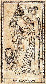 Strength (Tarot card) - Wikipedia