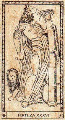 Carta della Fortezza, dai tarocchi detti del Mantegna