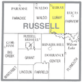 Map highlighting Luray Township, Russell County, Kansas.png