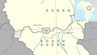 Abyei - Image: Map of Abyei Area en