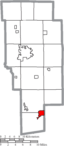 Location of Loudonville in Ashland County