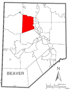 Map of Chippewa Township, Beaver County, Pennsylvania Highlighted.png