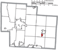 Map of Delaware County Ohio Highlighting Galena Village.png