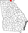 Map of Georgia highlighting Towns County.svg