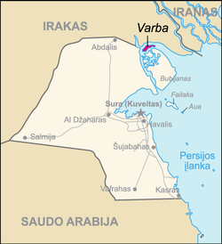 Map of Kuwait Varba (lithuanian).png