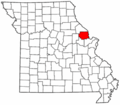 Map of Missouri highlighting Lincoln County.png