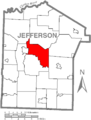 Map of Pine Creek Township, Jefferson County, Pennsylvania Highlighted.PNG