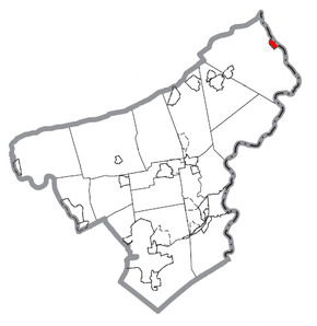 Map of Portland, Northampton County, Pennsylvania Highlighted.png