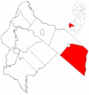 Pittsgrove Township, New Jersey - Image: Map of Salem County highlighting Pittsgrove Township