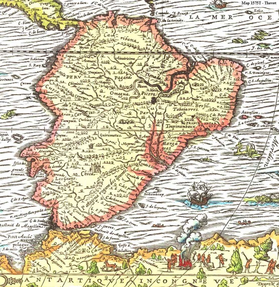 Map of South america 1575