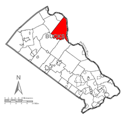 Map of Tinicum Township, Bucks County, Pennsylvania Highlighted.png