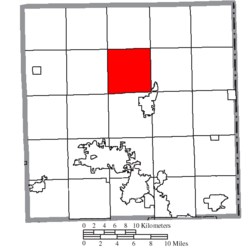 Location of Mecca Township in Trumbull County