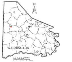 Location of West Middletown in Washington County