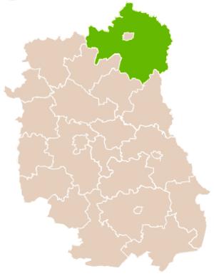 Biała Podlaska County - Image: Mapa Pow Bialski