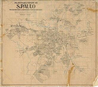 Francisco Prestes Maia - Map of São Paulo (1924)