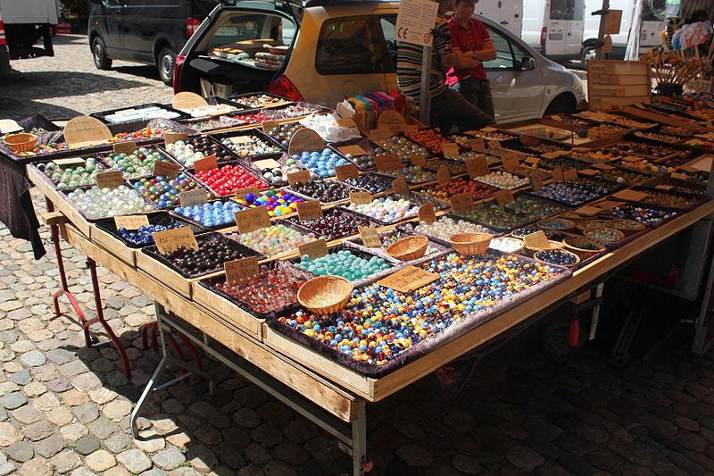 File:Marbles seller in Friburg.JPG