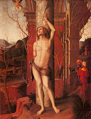 Marco Palmezzano - Saint Sebastian, (Museum of Fine Arts, Budapest)