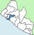 Margibi County Liberia locator.png