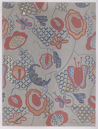 Marguerite Zorach - Semi-abstract Floral Design, 1919