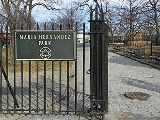 Maria Hernandez Park - Entrance