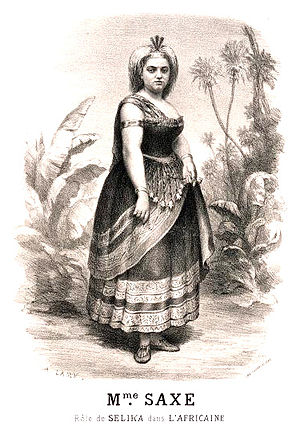 Marie Sasse - Saxe as Sélika in L'Africaine