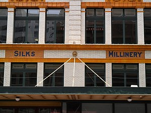 Mark Foy's - Image: Mark Foys silks and millinery signs