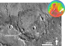 Martian impact crater Lederberg based on day THEMIS.png