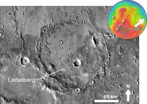 Joshua Lederberg - Impact crater Lederberg in Xanthe Terra on Mars
