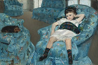 Little Girl in a Blue Armchair - Image: Mary Cassatt Little Girl in a Blue Armchair NGA 1983.1.18
