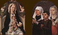 Master Of The Legend Of St. Ursula - Diptych with the Virgin and Child and Three Donors - WGA14579.jpg