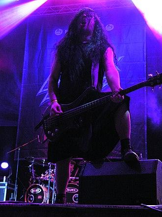 Sami Uusitalo - Sami Uusitalo during Finntroll concert on Masters of Rock 2007 festival.