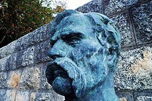 Croatian–Slovene Peasant Revolt - Image: Matija Gubec statue head closeup